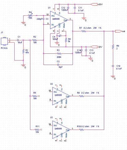 BPA300 GC - 300W 6x LM3886